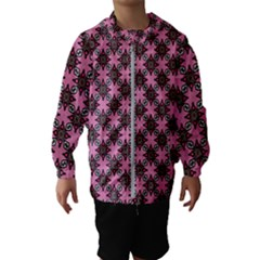 Purple Pattern Texture Kids  Hooded Windbreaker