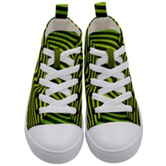 Wave Green Kids  Mid-top Canvas Sneakers