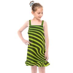 Wave Green Kids  Overall Dress by HermanTelo