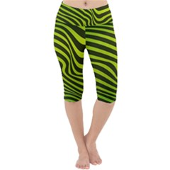 Wave Green Lightweight Velour Cropped Yoga Leggings