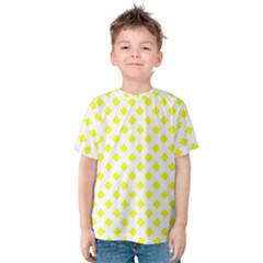 Yellow White Kids  Cotton Tee
