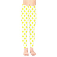 Yellow White Kids  Legging by HermanTelo