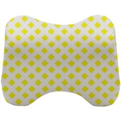 Yellow White Head Support Cushion