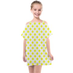 Yellow White Kids  One Piece Chiffon Dress by HermanTelo