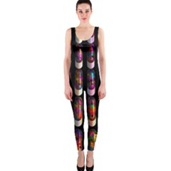 Texture Abstract One Piece Catsuit