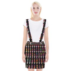 Texture Abstract Braces Suspender Skirt