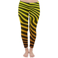 Wave Line Curve Abstract Classic Winter Leggings