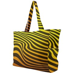 Wave Line Curve Abstract Simple Shoulder Bag by HermanTelo