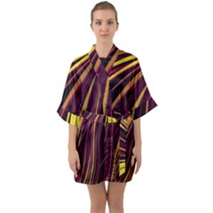 Lines Swinging Fantasy Quarter Sleeve Kimono Robe by Bajindul