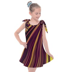 Lines Swinging Fantasy Kids  Tie Up Tunic Dress