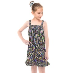 Circle Plasma Artistically Abstract Kids  Overall Dress by Bajindul