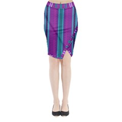 Fabric Pattern Color Structure Midi Wrap Pencil Skirt