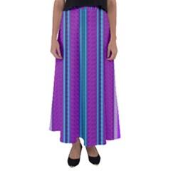 Fabric Pattern Color Structure Flared Maxi Skirt