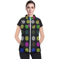 Flowers Arrangement Symmetry Women s Puffer Vest by Bajindul