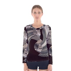 Ornament Spiral Rotated Women s Long Sleeve Tee by Bajindul