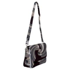 Ornament Spiral Rotated Shoulder Bag With Back Zipper by Bajindul