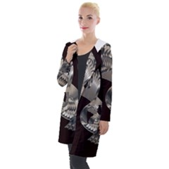 Ornament Spiral Rotated Hooded Pocket Cardigan by Bajindul