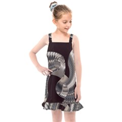 Ornament Spiral Rotated Kids  Overall Dress by Bajindul