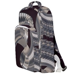 Ornament Spiral Rotated Double Compartment Backpack