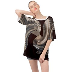 Ornament Spiral Rotated Oversized Chiffon Top