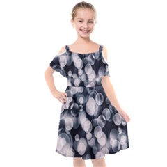 Ball Decoration Lights Kids  Cut Out Shoulders Chiffon Dress by Bajindul