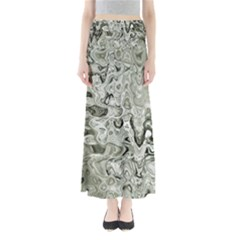 Abstract Stone Texture Full Length Maxi Skirt by Bajindul