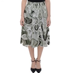 Abstract Stone Texture Classic Midi Skirt