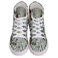 Abstract Stone Texture Women s Hi Top Skate Sneakers