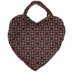 Decorative Flower Giant Heart Shaped Tote by Bajindul