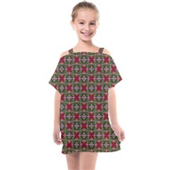 Decorative Flower Kids  One Piece Chiffon Dress by Bajindul