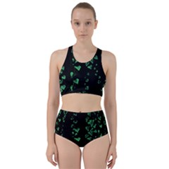 Botanical Dark Print Racer Back Bikini Set by dflcprintsclothing