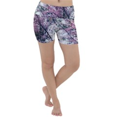 Ohio Redbud Lightweight Velour Yoga Shorts by Riverwoman