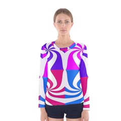 Candy Cane Women s Long Sleeve Tee by Alisyart