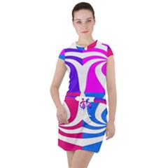 Candy Cane Drawstring Hooded Dress