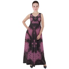 Glitch Art Grunge Distortion Empire Waist Velour Maxi Dress by Mariart
