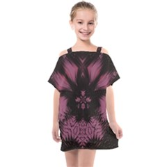 Glitch Art Grunge Distortion Kids  One Piece Chiffon Dress by Mariart