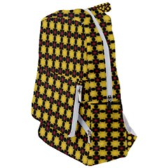 Yellow Pattern Green Travelers  Backpack