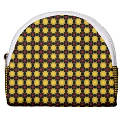 Yellow Pattern Green Horseshoe Style Canvas Pouch by Jojostore