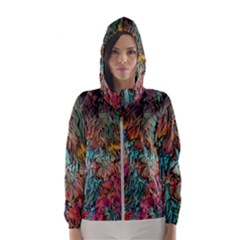 Oil Paint Women s Hooded Windbreaker