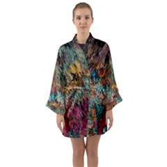 Oil Paint Long Sleeve Kimono Robe by Bajindul