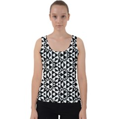 Geometric Tile Background Velvet Tank Top