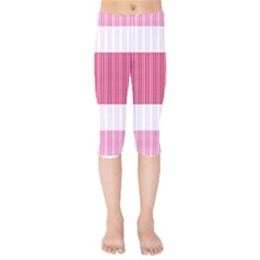 Fabric Geometric Texture Kids  Capri Leggings