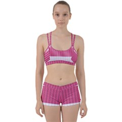 Fabric Geometric Texture Perfect Fit Gym Set by Bajindul