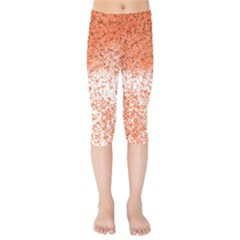 Scrapbook Orange Shades Kids  Capri Leggings  by HermanTelo