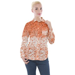Scrapbook Orange Shades Women s Long Sleeve Pocket Shirt