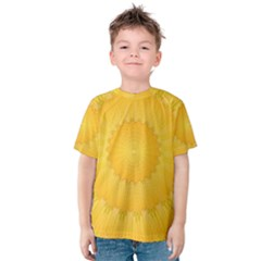Wave Lines Yellow Kids  Cotton Tee
