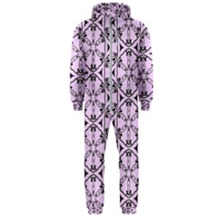 Texture Tissue Seamless Flower Hooded Jumpsuit (men)  by HermanTelo