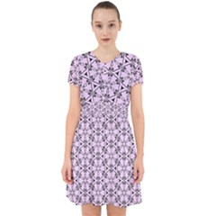 Texture Tissue Seamless Flower Adorable In Chiffon Dress