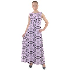 Texture Tissue Seamless Flower Chiffon Mesh Maxi Dress