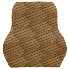Wood Texture Wooden Car Seat Back Cushion